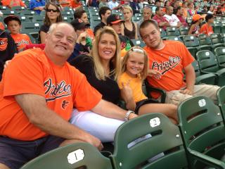 Family night at the O's game - Jami Young