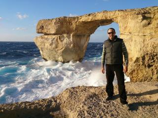 Me at the Azure Window  - Victor Azzopardi