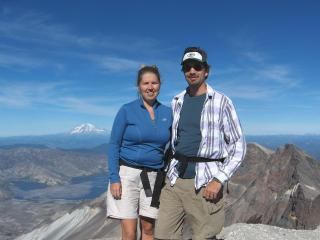 Us on the top of Mt St Helens - Long Beach Vacation Home Owner