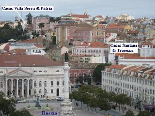 Our 5 holiday homes viewed from the Rossio, Lisbon's central plaza - Austin, Jordan & Deb Kleber
