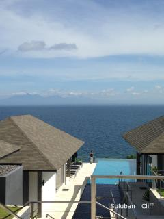 From the cliff top terrace overlooking the expanse of Suluban Cliff Villa - Suluban Cliff Bali Villa  Direct Oceanfront View