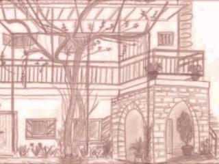 Sketch of the house by one of our guests - Vassiliou Chrystalla