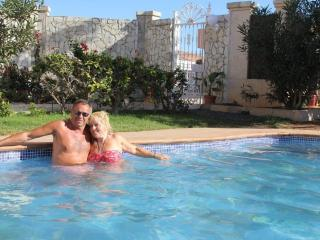 Nigel and Karen Shepherd in the Fuerteventura Serenity Swimming pool...photo taken in January 2014 - Mrs Karen Shepherd