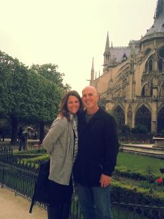 We love to travel too! Paris, France 2013 - Jenn and Jeff