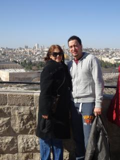My mom and me in Jerusalem - Jeff Wever