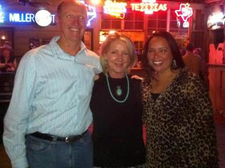 Cecil and Judi Eager with Gina Walker at Gruene Hall. - Gina Walker & Cecil Eager