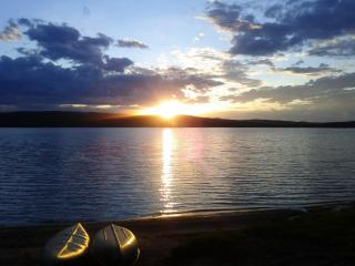 Best Sunsets on a shallow sandy beach with amazing rental cottage lakeviews. - Danette & Steve Owners and Operators