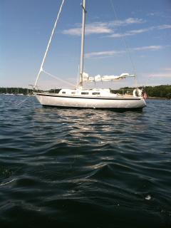 Our sailboat in Boothbay Harbor - Paula Benner