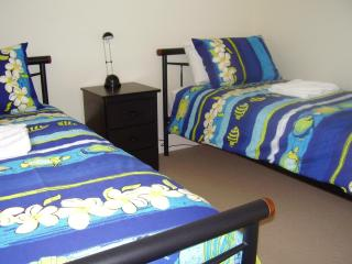 Third bedroom has 2 singles beds comfortable mattresses for either children or adults. Ceiling fans - Lorraine & Robert Murray