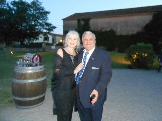 Judy and Frank at local domain for wedding. Great place for wine tasting and photo taking. - Judy and Frank Pagano