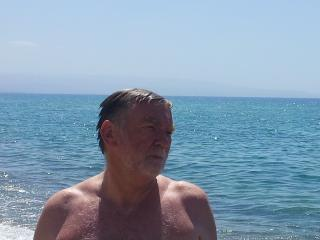 my good self after a wonderful swim in Pizzo - michael power