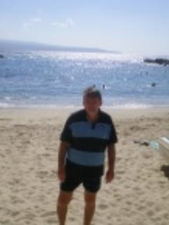 Pizzo Marina beach    and your host  - michael power