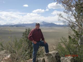 At Lookout Point near the cabin; South Park in the background. - Pete Weaver