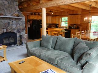 Spacious Log Home on Newfound Lake - semi private access to 110 foot shorefront - 4 Season - Hebron vacation rentals