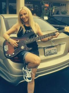 Aloha and Bonjour. My new bass. Recording a new album, in the studio. :) - H.G. Nadel