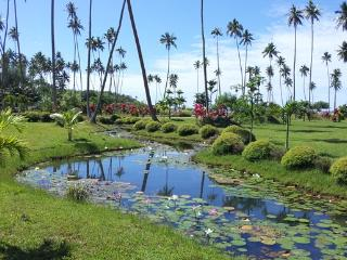 Lily Pond and Flower Gardens are a sight to behold during a stroll around the seaside 17 acres - SigaSiga Sands Cottages