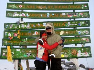 Maria and Kenyon reach new heights atop Mt. Kilimanjaro - Maria Thi Mai and Kenyon Fink