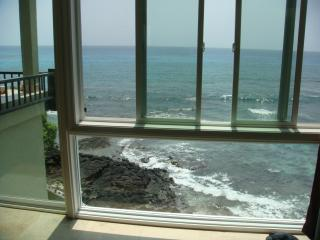 view from the living room at Banyan Tree - Absolute Oceanfront condo retreat just 25 feet from the ocean