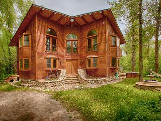Secluded Mountain Western Log Home on Teton Creek - Driggs vacation rentals