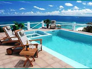 PARADISO... spacious and oh so comfortable 5 BR hillside villa, huge blue views!! - Image 1 - Oyster Pond - rentals