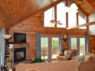 Two Story Log Cabin w/Hot Tub and Mountain View - Maggie Valley vacation rentals