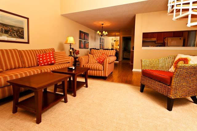 Living Area - Ocean Edge Townhouse with King, A/C & Pool (fees apply) - BI0085 - Brewster - rentals