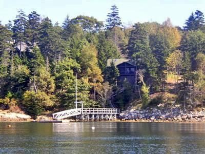 View of Linekin Log Cabin from the Water - Linekin Log Cabin East Boothbay - Boothbay - rentals