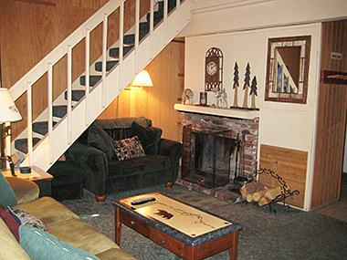 Living Room and Stairs to Loft - Western Slopes Villas - WSV10 - Mammoth Lakes - rentals