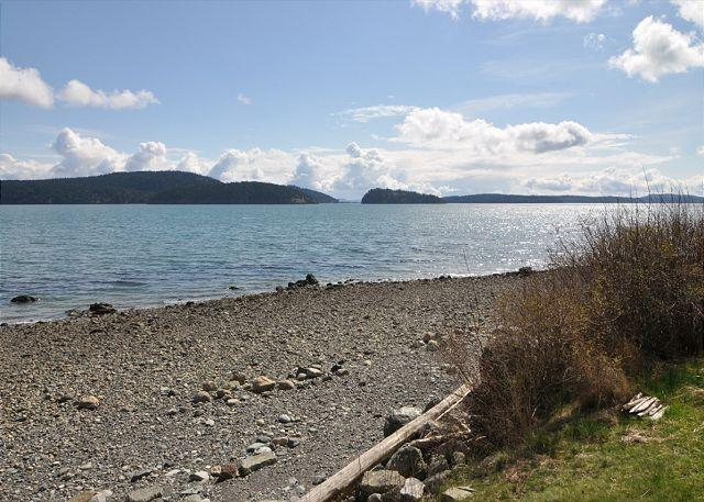 Your beach below the bluff at the end of the lawn. - Island Views on Lopez - Lopez Island - rentals