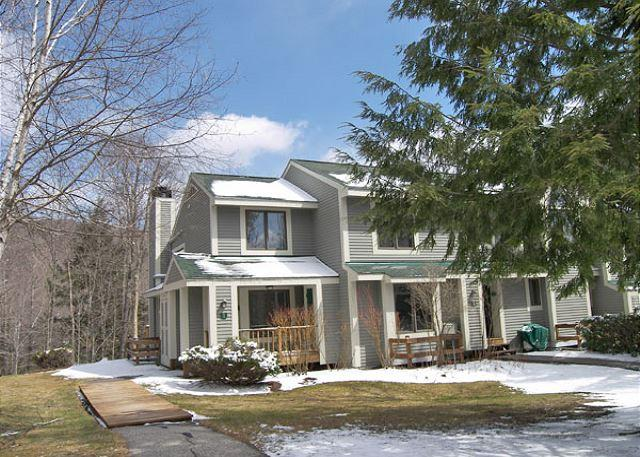 Exterior of Unit in Early Spring - Forest Ridge 18-1 - Managed by Loon Reservation Service - Lincoln - rentals