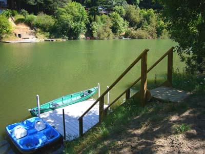 Casa Luna, Dock on the Russian River - Casa Luna - Riverfront Cabin, Spa, River Access - Guerneville - rentals