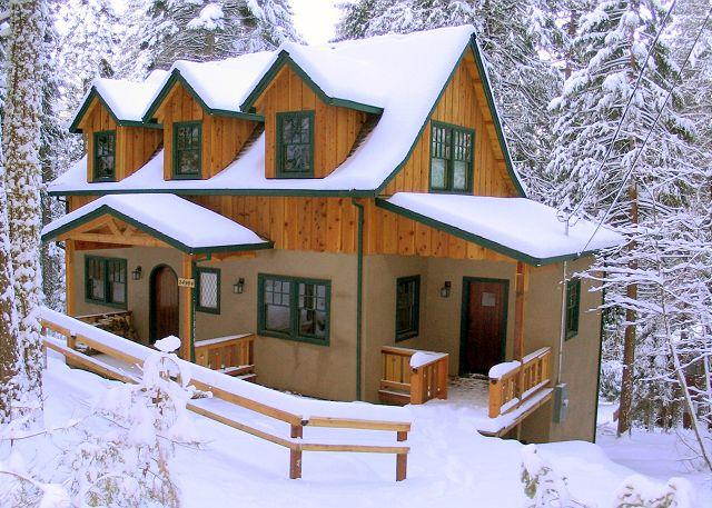 Exterior Winter - New European style cabin- sledding hill, gourmet kitchen, games, Sleeps 9. - Sierra Village - rentals