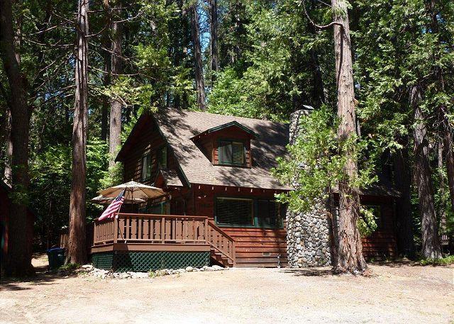 Exterior - Gorgeous cabin- fireplace, near downtown & lake, deck, A/C &  firepit - Twain Harte - rentals