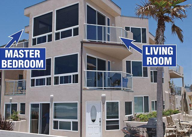 Fabulous oceanfront penthouse on the boardwalk! - Image 1 - Pacific Beach - rentals