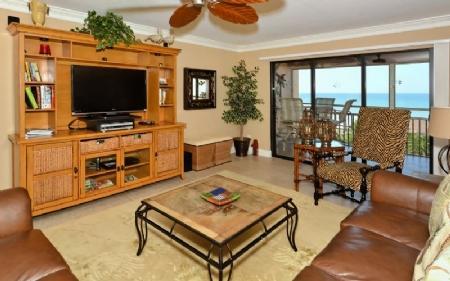 Living Area - Buttonwood 472 - Siesta Key - rentals