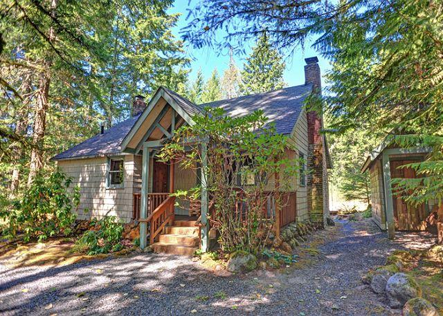 Pine River Cabin along the Sandy River in Wildwood, Oregon - Pine River Cabin - Family Holiday Getaway, Fireplace, Hot Tub, Dogs OK - Brightwood - rentals