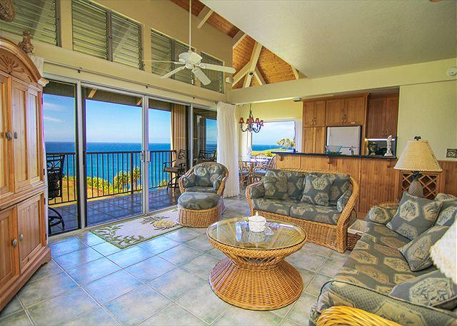 Pali Ke Kua #246: Ocean and sunset views from your own private - Image 1 - Princeville - rentals
