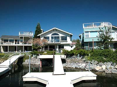 Exterior from Water - 478 Carson Court - South Lake Tahoe - rentals