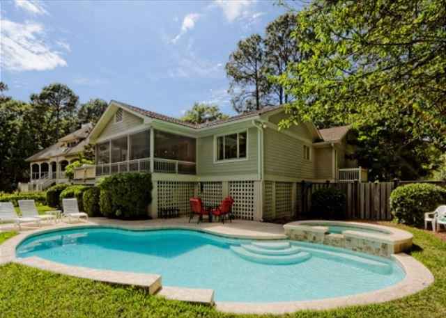 Moonshell 30 - 3rd Row 4BR/3BA Pet Friendly Home Offers Heated Pool and Spa and Backyard - Hilton Head - rentals