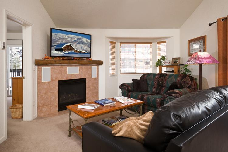 Living Room with vaulted ceiling, 55