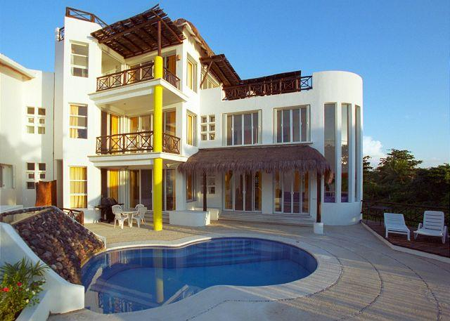 Kidney Shape Private Pool overlooking the ocean - Beachfront Villa on San Francisco Beach, Private Pool, Near Reefs,Cook Option - Cozumel - rentals