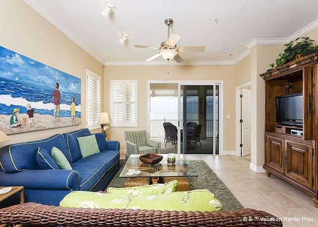 Come enjoy our coastal cottage decor - with ocean views! - 851 Cinnamon Beach OceanFront, 5th Floor, Elevator, HDTV, Corner - Palm Coast - rentals