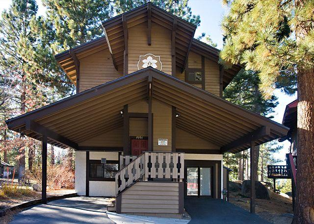 Tahoe Tyrol 3351 exterior front - Renovated 4BR/4BA chalet with filtered lake views! Sleeps up to 10 - South Lake Tahoe - rentals