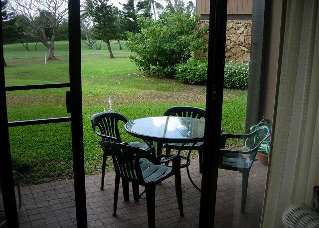Lanai view to golf course - Turtle Bay 033 West *** - Kahuku - rentals
