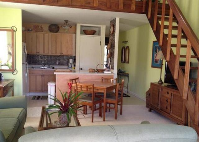 Living Room and Kitchen Area - Turtle Bay 120 East ***  Available for 30 day rental, please call - Kahuku - rentals