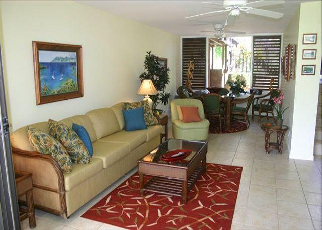 Living Room/Dining Area - Plumeria ***Available for 30 night rentals, please call. - Kahuku - rentals