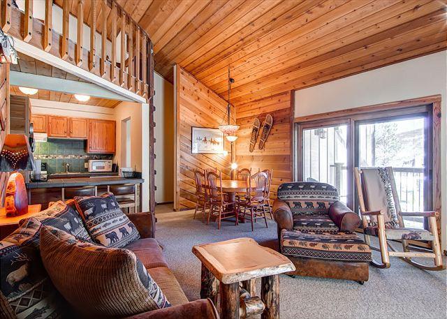 Double Eagle Living Room Ski-in Breckenridge Lodging - Double Eagle A31 Ski-in Condo Breckenridge Colorado Vacation Rental - Breckenridge - rentals