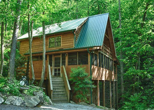 Total Relaxation and Privacy!  Gorgeous Mountain Cabin on a Stream! - Image 1 - Sevierville - rentals