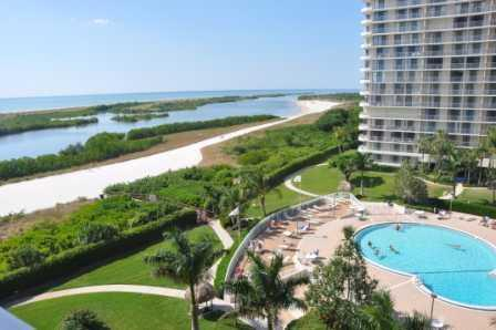 Welcome to South Seas Tower III #710 - View from balcony - South Seas - SST3710 - Condo on Tigertail Beach! - Marco Island - rentals
