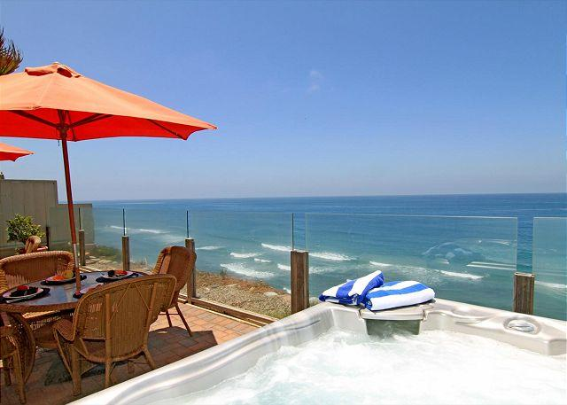 San diego beach rental - Single family 8br, 6.5ba home on the ocean, private spa, fireplace, patio - Encinitas - rentals